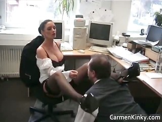 hot perverted carmen spanks and rides her part10
