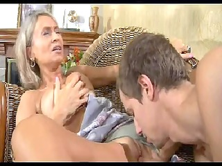 sexy mom n100russian golden-haired excited older