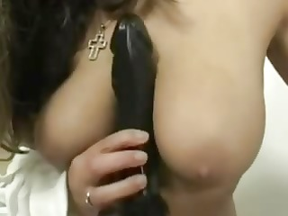 german woman with her large sex tool
