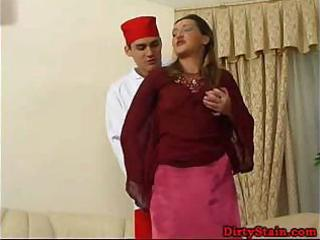 lonely mommy seduces her sons ally and fucks on