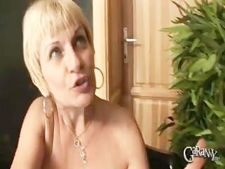 blonde granny takes on cocks