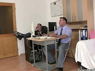 job interview leads to three-some