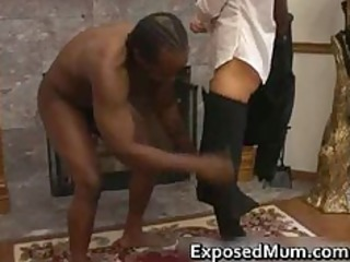 sexy mother i in glasses deepthroating black part6