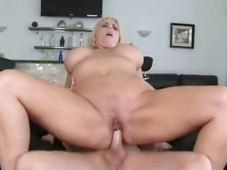 bulky blond momma with giant whoppers gets shagged