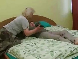 horny aged whore receive facial from young chap