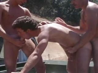 vintage mature boyz drilling outdoor