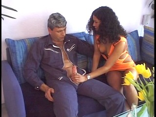 older stud receives it up for younger lady