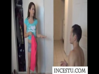 sister teases her brother at incestu.com