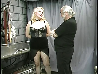 older fat villein teat clamped and teased