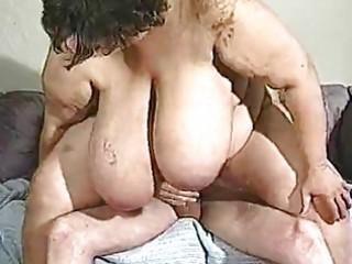 aged big beautiful woman has really large titties