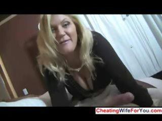 sexy milf gives great handjob