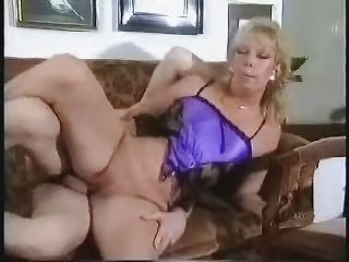 pierced bald mature drilled on couch with facial