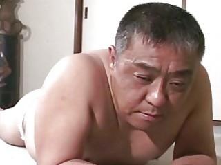mature oriental lad receives thrashing