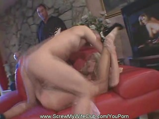 swinger wife bonks whilst hubby watched