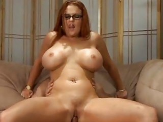 large melons redhead milf drilled
