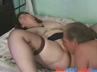 fat mature brunette blows and gets nailed by